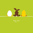 Easter Bunny, Egg & Chick