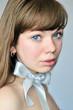 blue-eyed portrait