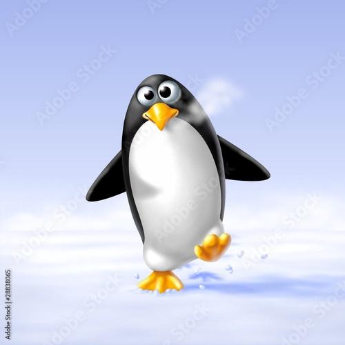 pinguino sulla neve - 28838065