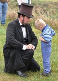 Civil War Re-enactment - Abe and Child