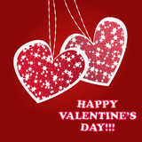 Twinkling and sparkling valentines hearts poster