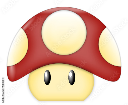 Red Cartoon Mushroom - 28840641