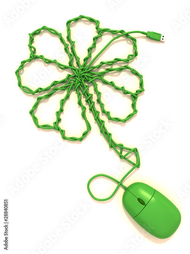 Mouse cable shape clover