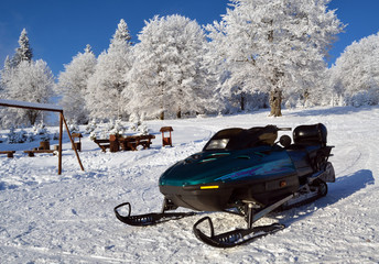 Ski jet (ski-doo) waiting for a rider