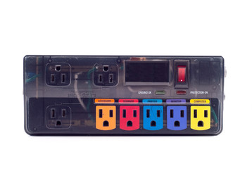 Power Surge Protector with Specially Designated Inputs