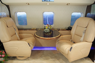 Salon of expensive helicopter class business