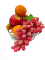 fruit on white background