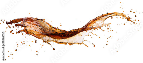 Fototapeta Cola splash isolated