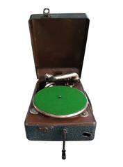Retro gramophone or record player