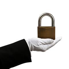 Holding padlock
