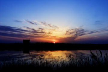 Sunrise at a small lake