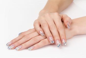 Beautiful artificial manicure