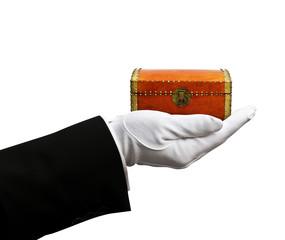 Treasure chest in hand
