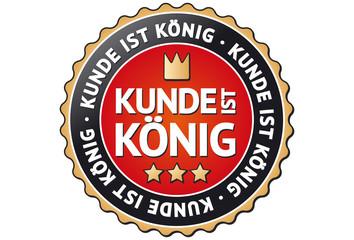 Kunde ist König Siegel / Button