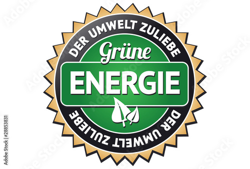 Grüne Energie Siegel / Button