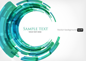 abstract modern background with round shapes