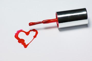 Nail Polish Heart 2