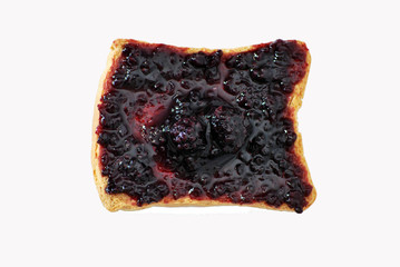 rusk with blackberries jam
