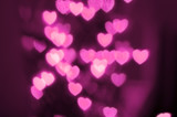 Cool pink heart lights out of focus