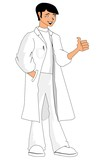 Illustration of a positive doctor poster