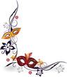 Ranke, Karneval, Fasching, Masken, Blumen