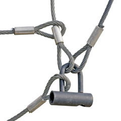 Industrial Safety Lock Interlocked Wire Loop Ropes Isolated