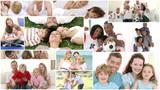 Animation of various family having fun