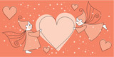 love greeting card with elves and hearts poster