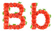 Strawberry alphabet - B