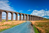 Famous Ribblehead viaduct in Yorkshire Dales poster