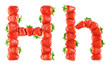 Strawberry alphabet - H