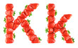 Strawberry alphabet - K