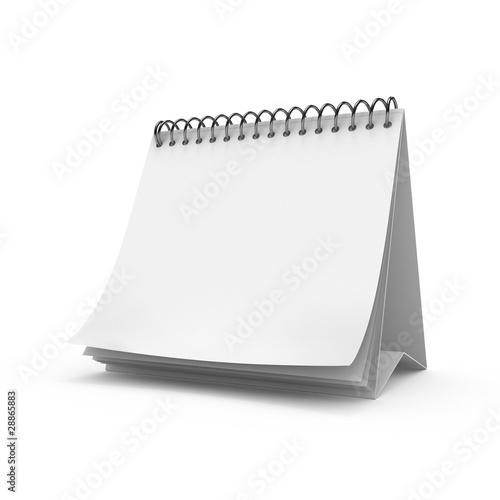 Leinwandbild Motiv Blank desktop calendar