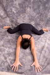 yoga frog pose asana