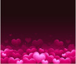 Pink vector valentine's day background