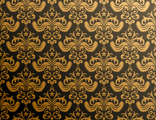 Golden ornate wallpaper
