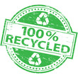 100 percent recycled rubber stamp