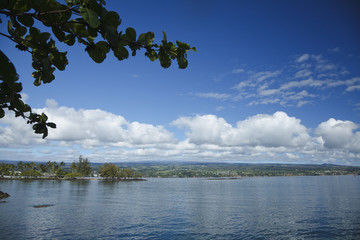Coconut Island of Hilo Bay at Hawaii