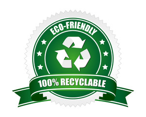 100% recyclable and eco-friendly sign