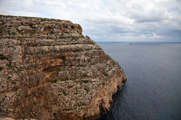 Cliffs of  Maltese islands