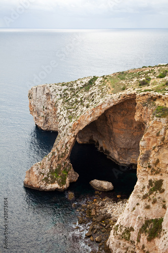 View of Blue Grotto
