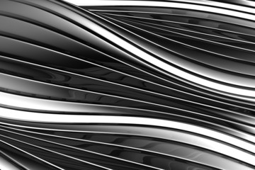 Aluminum abstract silver stripe pattern background