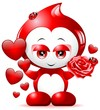 Goccia d'Amore Cartoon-Love Drop Cartoon-Vector