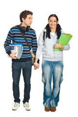 Couple of students walking