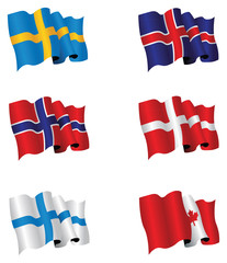 Northern country flags