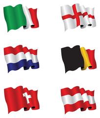 set of six flags