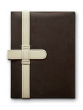 Close Brown Leather cover notebook