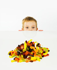 Boy and candy