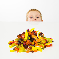 child with jelly candy