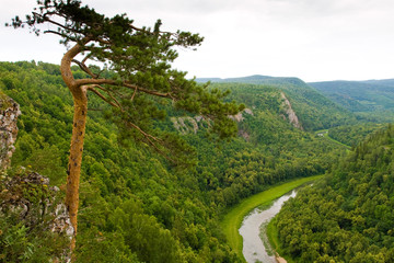 Southern Urals. Mountains and river